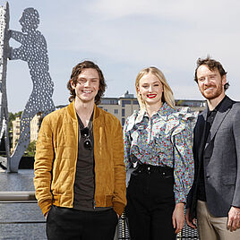 Evan Peters, Sophie Turner, Lena Meyer-Landrut und Michael Fassbender in Berlin