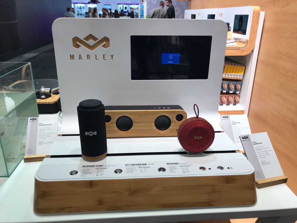The House of Marley praesentierte nicht nur die neusten tragbaren Bluetooth Audiosysteme