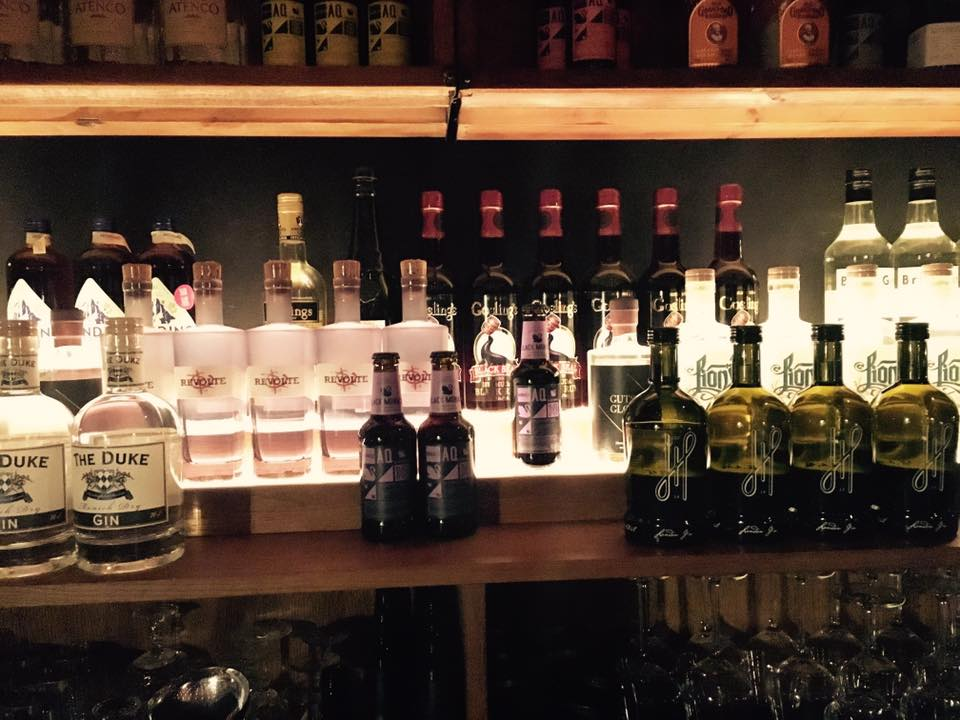 Der Hoos London Gin gehoert in jede gut Bar