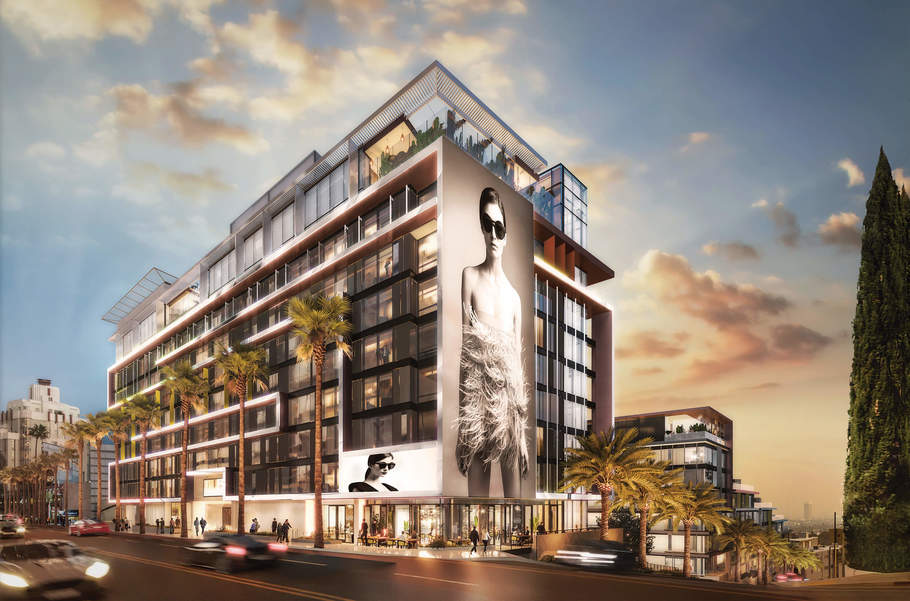 Neuer Luxus der Oberklasse in Los Angeles, das Pendry West Hollywood